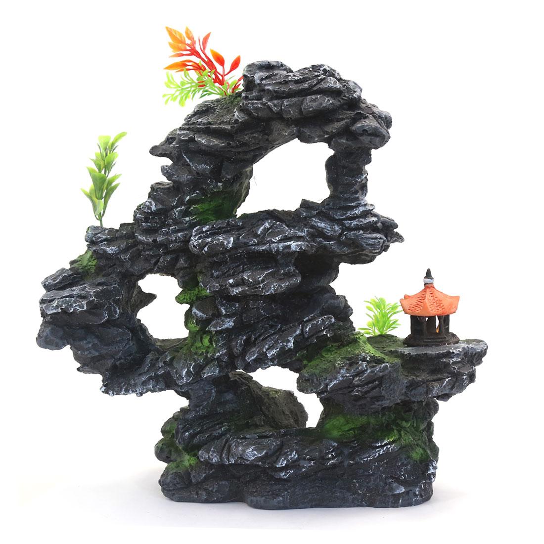 28x17x27cm Étang de jardin Décoration aquatique Colline de rocaille artificielle 2
