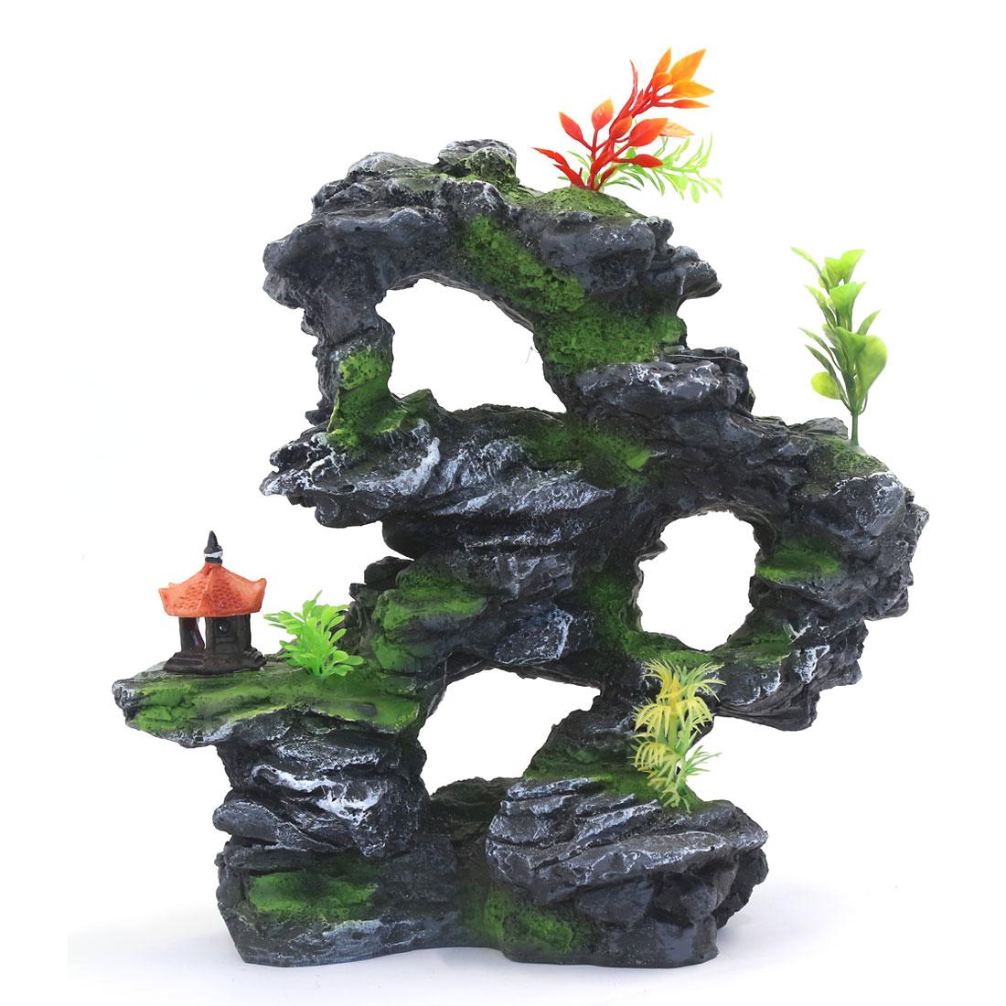 28x17x27cm Étang de jardin Décoration aquatique Colline de rocaille artificielle