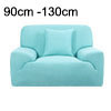 Stretch Sofa Cover 1 Seater Protectors 35-55 Inches Blue With 1pc...