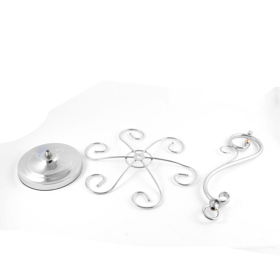 Metal Elegant Tabletop 6 Wine Glass Drying Rack Ring Display Stand Silver Tone 2
