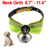 Pet Doggy Dog Metal Bowknot Shaped Bell Pendent Co...