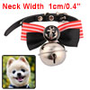 Pet Puppy Dog Single Pin Buckle Bell Decor Bow Tie...