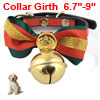 Pet Doggy Dog Single Pin Buckle Bell Decor Bow Tie...