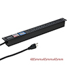 15A US Plug 1U Rackmount 7 Way Outlet Switched V/A LCD Meter PDU ...