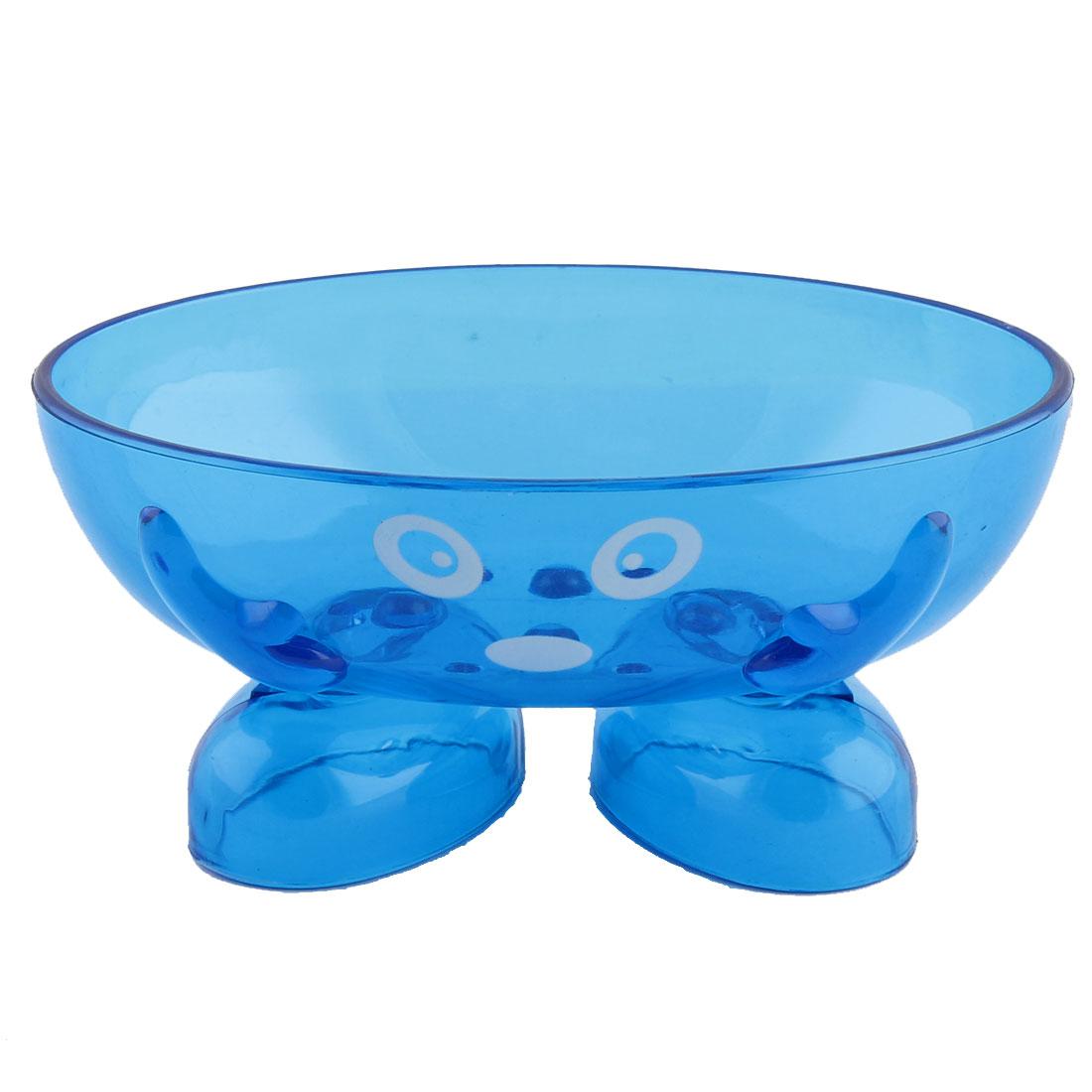 Motif-Tennis-Salle-bain-en-plastique-caricature-Visage-Porte-savon-Boite-violet