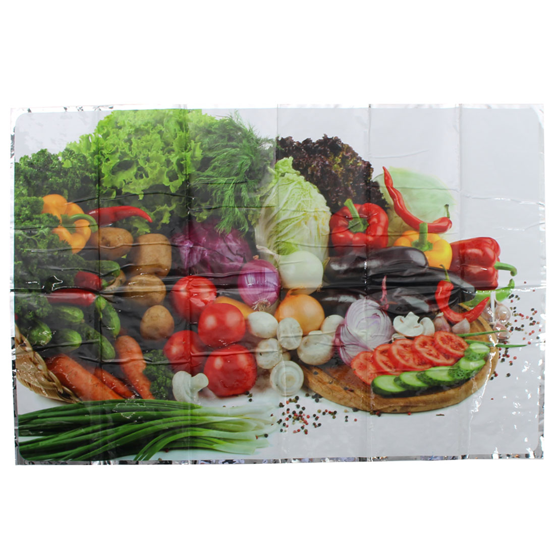 Household Vegetable Pattern Oil Proof Adhesive Wall Sticker Sheet Decoration