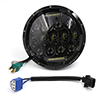 7'' Black 75W LED Headlight H4 H13 DRL Hi/Lo Beam For Jeep Wrangl...