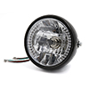 "F FIERCE CYCLE Universal 7"" Motorcycle Bike H4 Halogen Headlight ..."