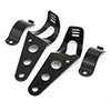 F FIERCE CYCLE 2pcs Black Universal Motorcycle Headlight Brackets...