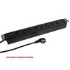 AC220V-250V AU Plug Power Distribution Unit 9Way IEC320 C13 Overl...