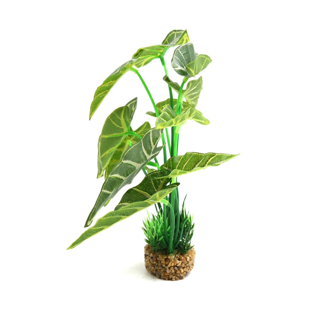 Vert Plante en plastique Décor d'aquarium Paysage pour poisson rouge et Betta 2