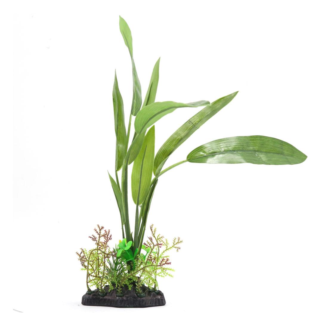 Plante en plastique Décor d'aquarium Paysage pour Oscar Guppy Cichlidae Betta 3