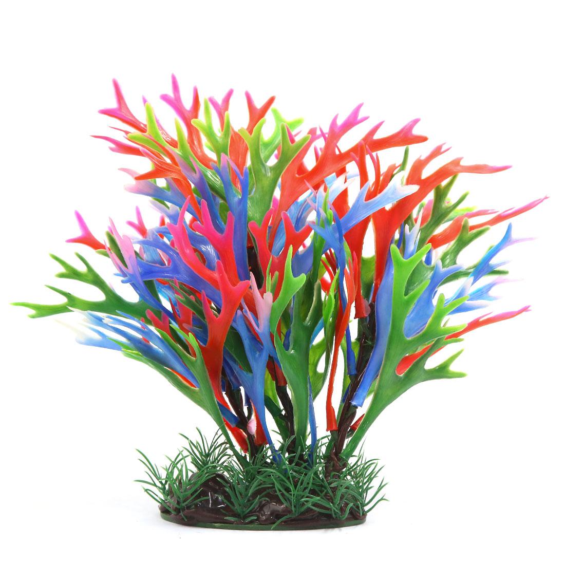 Multi-couleur Plante en plastique Décoration d'aquarium Réservoir à poisson