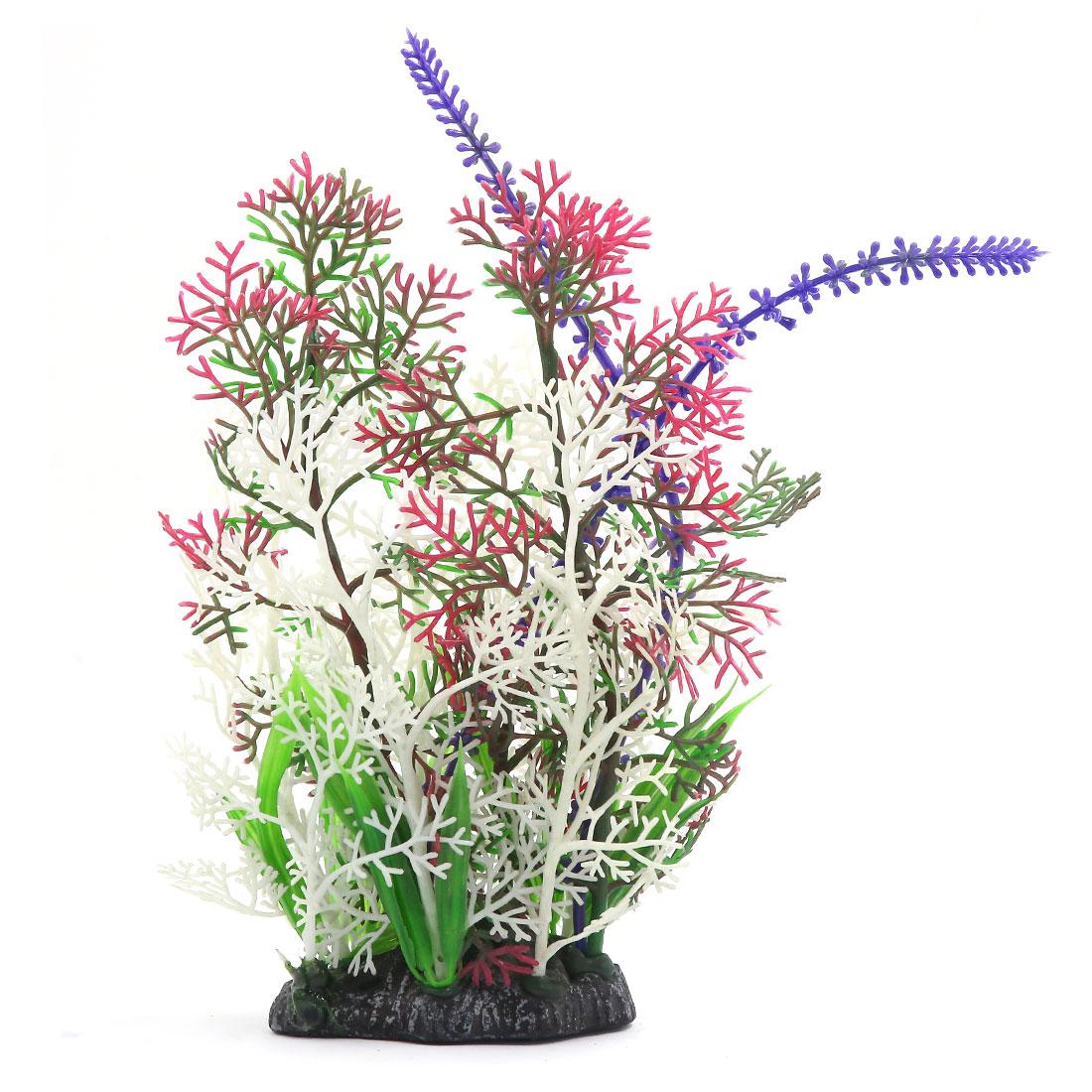 Multi-couleur Plante en plastique Paysage aquatique Décoration d'aquarium