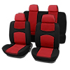 X Autohaux Car Seat Covers Red Black Full Set for Auto w/ 4 Head ...