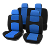 X Autohaux Car Seat Covers Blue Black Full Set for Auto w/ 4 Head...