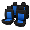 8 pieces Car Seat Covers Full Set For Auto Truck Blue-Black