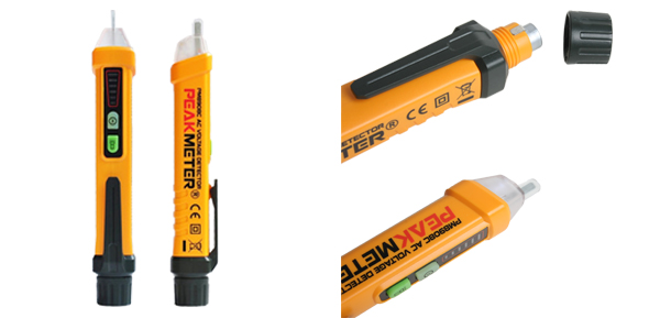 PM89D8C Non-contact AC Voltage Detector Test Pencil with LED Indicator Flashlight Auto Power-off