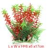 Landscape Fish Tank Decoration Red Green Plastic Plant for Betta...