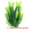 Aqua Landscape Fish Decoration Green Yellow Plastic Plant 27cm