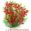 16cm  Landscape Fish Tank Decoration Green Red Plastic Plant
