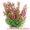 1 Pcs Pink Green Plastic Plant for Aqua Landscape Fish Tank Decor...