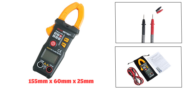 PEAKMETER Authorized Mini Digital Multimeter Ammeter Volt Ohm Clamp Meter Tester
