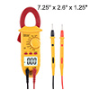 DMiotech Mini Digital Multimeter Ammeter Voltage ACV DCV Ohm Clamp Meter Tester Handheld Red