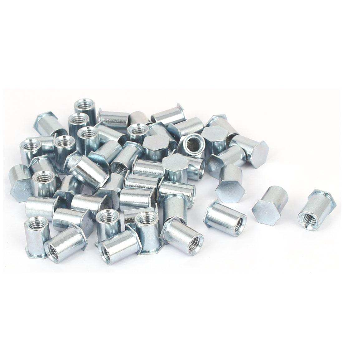 M5x10mm-Hex-Head-Zinc-Plated-Carbon-Steel-Blind-Self-Clinching-Standoff-50pcs