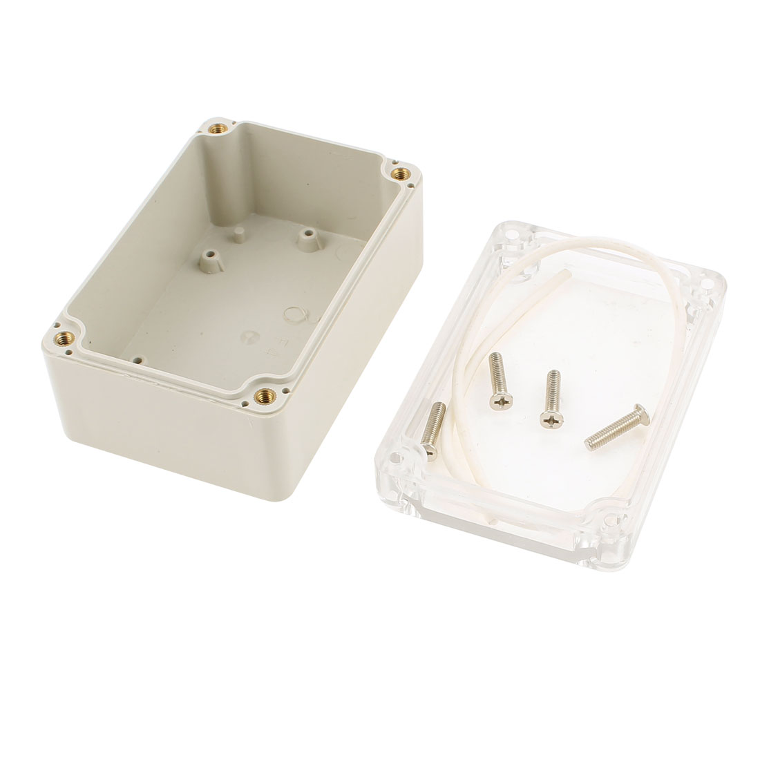 100x-68x-50mm-Waterproof-Junction-Box-DIY-Terminal-Connect-Enclosure-Clear-Cover