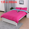 PiccoCasa Pure Blue Fuchsia Duvet Cover Pillow Case Quilt Cover S...