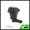 2 Pcs Black Plastic Dual Hole Windshield Window Wa...