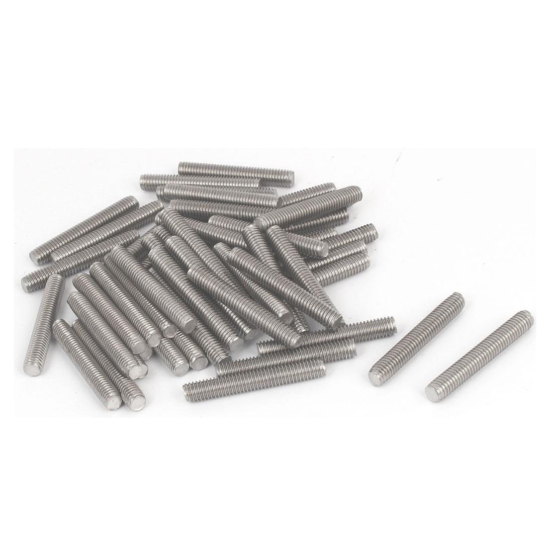 M6-x-40mm-Male-Thread-304-Stainless-Steel-Fully-Threaded-Rods-Bar-Studs-50-Pcs
