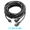 US Plug to 2 Outlets Power Extension Cord Cable 13...