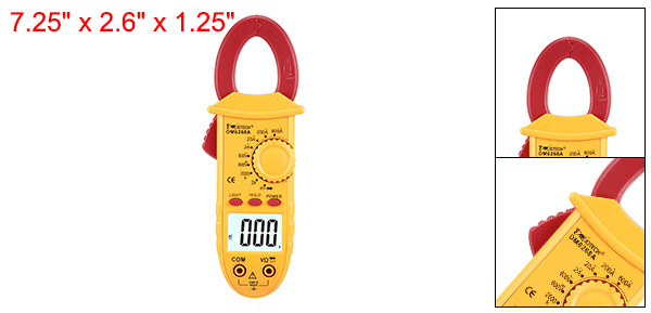 Mini Digital Multimeter Ammeter ACV DCV Ohm Clamp Meter Tester Handheld