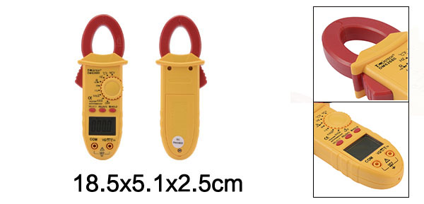 Mini Digital Multimeter Ammeter ACV DCV Resistance Clamp Meter Handheld