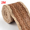 Burlap Hessian Crafting Lace Ribbon Roll Trim Edge...