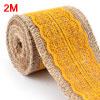 Burlap Hessian Art Crafting Lace Ribbon Roll Trim ...