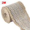 Burlap Hessian Strap Art Crafts Lace Ribbon Roll T...