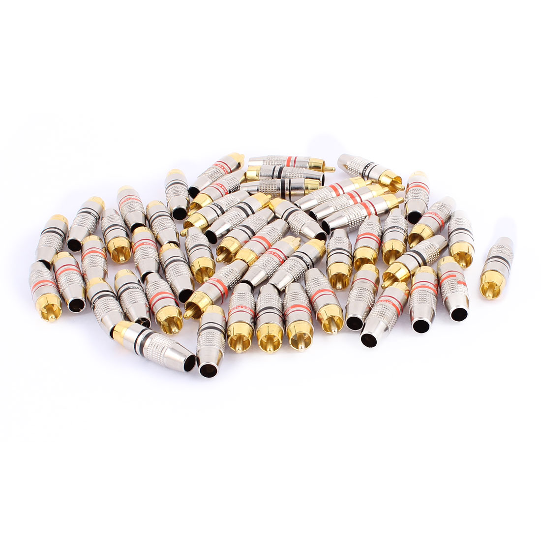 50-Pcs-Metal-RCA-Male-Plug-Audio-Coaxial-Wire-Connector-Coupler