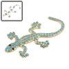 Universal Blue 3D Faux Diamond Gecko Shaped Car De...