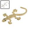 Gold Tone 3D Faux Diamond Gecko Shaped Car Decorat...