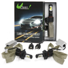 2*36W H4 LED Headlight Kit White 6000K 8000LM COB ...
