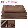 PiccoCasa Microfiber 4-Piece Bed Sheet Set, Fade - King - Coffee ...