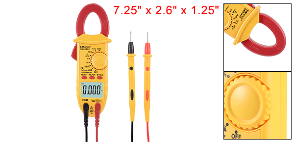 DM6268C DMiotech Mini Digital Multimeter Ammeter Voltage ACV Ohm Clamp Meter Tester Handheld