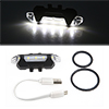 Rechargeable USB 5 White LED Rear Tail Light Lamp ...