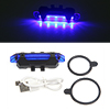 Blue 5 LED USB Rechargeable Bike Cycling Tail Rear...