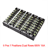 5 Pcs 7 Positions Dual Rows 600V 15A Wire Barrier ...