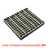 5 Pcs 10 Positions Dual Rows 600V 15A Wire Barrier...