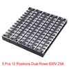 5 Pcs 12 Positions Dual Rows 600V 15A Wire Barrier...